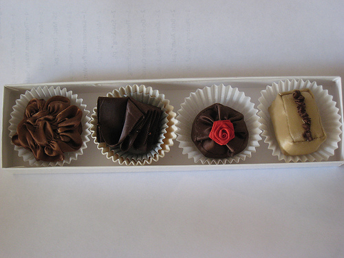 Completed chocolates -- almost good enough to eat!